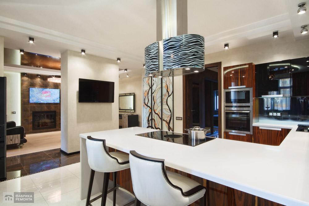 Кухня-стойка для кулинарных шоу