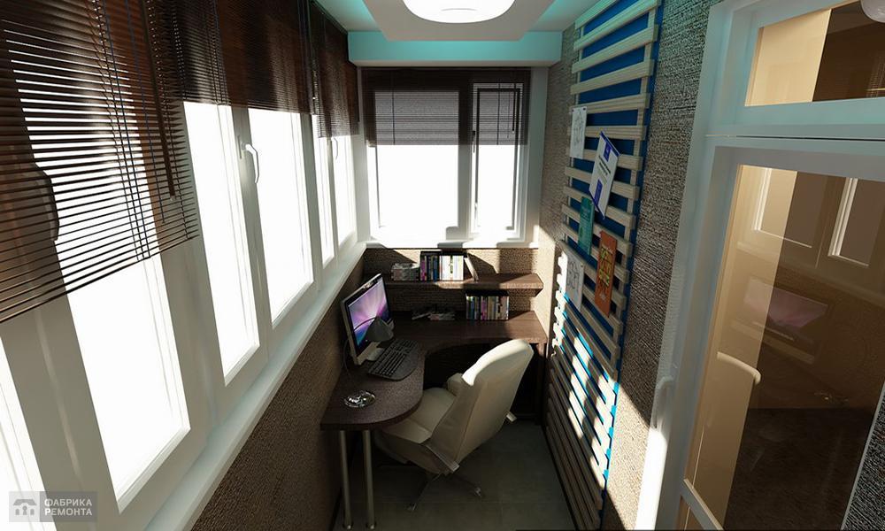 Офис на балконе фото.