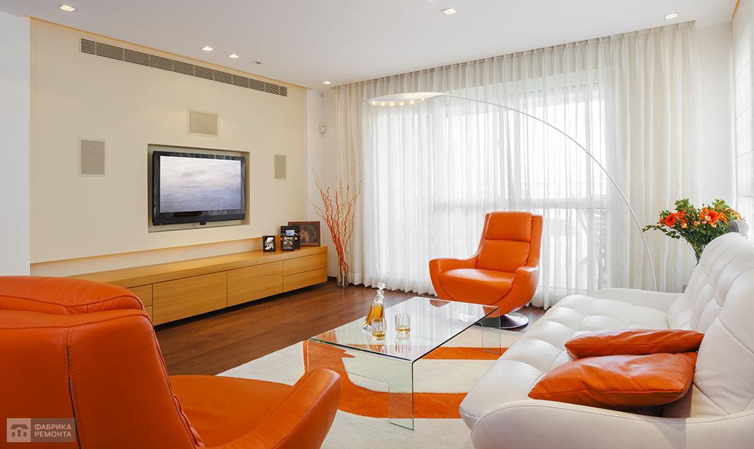 Дизайн зала 18 кв.м